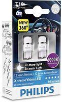 LAMPADINE AUTO TARGA INTERNO PHILIPS LED T10 12 V 6000K xenon white 127996000kx2