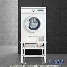 Waschmaschinen Untergestell mit Ausziehablage Trockner Unterschrank Stahl Weiß