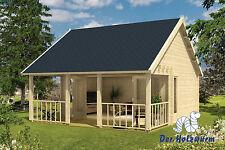 Gartenhaus Olaug ISO Blockhaus 550x598cm Holzhaus 44mm Gerätehaus Terrasse Holz