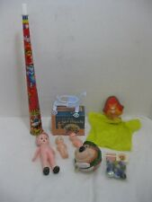 Junk Drawer Lot of Vintage Toys, Dolls, YoYo, Horn Marbles Hand Puppet Lot of 6