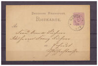 Deutsches Reich, Ganzsache P 10 Remda-Teichel nach Erfurt 03.02.1879