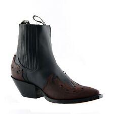 Grinders Arizona Lo Unisex Leather Biker Boots Cuban Heel Cowboy Boots