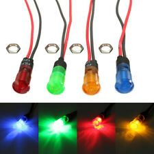 8mm Car LED Indicator Pilot Dash Dashboard Panel Warning Light Lamp Accessories