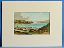 OBAN BAY AND SOUND OF KERRERA SUPERB QUALITY MOUNTED ANTIQUE CHROMO PRINT c1890