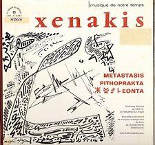 "XENAKIS ""METASTASIS"" 60'S LP STEREO LE CHANT DU MONDE LDX-A 8368"