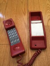 Northern Telecom Nortel SOLO RED Touch-Tone Desk Wall Phone 1986 Canada READ