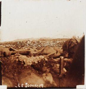 Les Éparges Première Guerre mondiale 1914-18 WW1 Plaque Stereo Vintage
