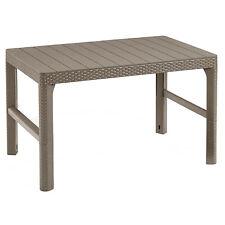 Gartentisch Garten Terrasse Möbel Tisch mit zwei Positionen Rattan Lyon