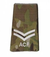 Pair Multicam MTP ACF Corporal CPL RANK SLIDES ( Cadets Army Cadet Force