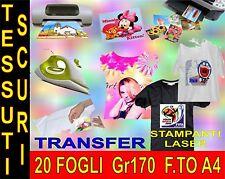 20 PEZZI  A4 21 X 29,7 170 GR  TRANSFER X COTONE SCURO QUALITA STAMPA MAGLIETTE