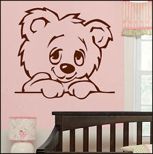 LARGE WALL STICKER FOR NURSERY BABY TEDDY BEAR TRANSFER IN POSTER DECAL