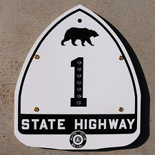 California ACSC glass reflector bear route 1 highway road sign auto club AAA