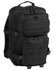 US ASSAULT Outdoor DAYPACK LARGE Military PACK Rucksack Black schwarz