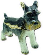 SCHNAUZER DOG JEWELED TRINKET BOX PHB - GREAT!!!