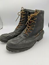 Polo Ralph Lauren Whitsand Duck Boots Black Leather Mens 13D