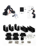 1 Set Black 6 DOF Aluminium Mechanical Robotic Arm Clamp Claw Mount Robot Kit