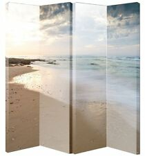 ARTHOUSE SCREEN BEACH SCREEN / 4 PANEL 3 FOLD DRESSING PRIVACY ROOM DIVIDER