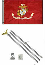 2x3 0.6mx3 ' EGA Usmc Marines MARINE CORPS BANDERA ALUMINIO Polo Kit Set
