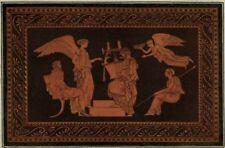 Art etrusque Musique Lyre Harpe Décoration Mythologie Hamilton Gravure 1785