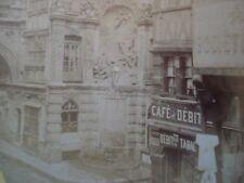 VUE STEREO ROUEN  INSTANTANE PASSAGE DU GROS HORLOGE La fontaine Ca1880