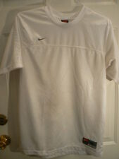 Nike Team Soccer Jersey-Mens Medium-White-100% Poly-Logo On Front-Good Condition