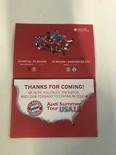 VIP Flyer FC Bayern München USA Tour 2018 Philadelphia Miami Juventus Manchester