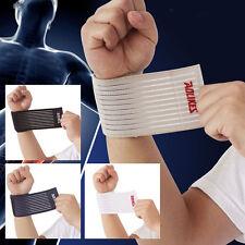 Vendaje elástico algodón Sport Deporte Gimnasio Muñequera de apoyo Muñequera Wrap UK