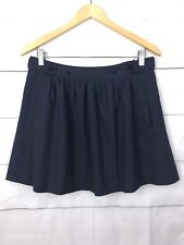 Piper Lane Womens Skirt 12 10 Mini A Line Short Pocket Dark Grey Work Party C248