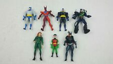 Lot of 7 Batman 90s Action Figures Robin Batgirl Poison Ivy Kenner Hasbro - USED