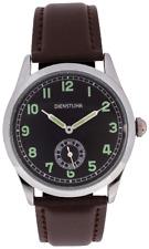 More details for ww2 pattern german army service watch or dienstuhr military watch. brown strap