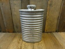 More details for vintage swiss army flask water tin / bottle sigg 581 metal military canteen