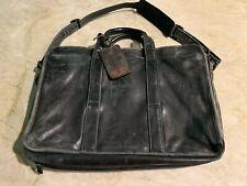 Vintage Tumi Expandable Organizer Briefcase Messenger - Black Napa Leather