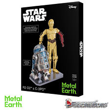 Metal Earth 3D Laser Cut Steel DIY Model Star Wars C-3PO & R2-D2 Model Gift Set