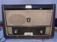 VINTAGE VÁLVULA RADIO EUMIG PHONO-EUMIGETTE 384W PARA  RESTAURAR 1956