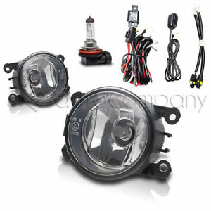 For Land Rover Fog Lights Front Bumper Lights w/Wiring Kit - Clear