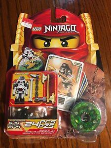 Lego 2174 NINJAGO Set KRUNCHA Skeleton Spinjitzu & Weapon Cards 2011 Retired NEW