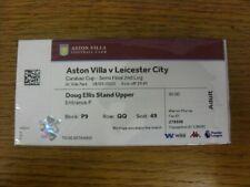 28/01/2020 Ticket: Football League Cup Semi-Final, Aston Villa v Leicester City