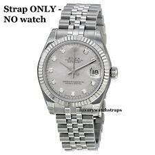 STAINLESS STEEL JUBILEE WATCH BRACELET STRAP FOR ROLEX LADIES DATEJUST 13mm