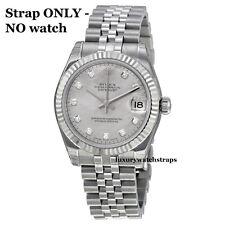 Excelente Acero Inoxidable Jubilee Reloj Pulsera Correa 4 Rolex señoras Datejust 13mm