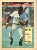 Sporting News Baseball newspaper, 7/17/71, Willie Mays, San Francisco Giants~ VG