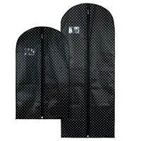 Hangerworld™ Black Spotty Breathable Suit, Dress Clothes Covers Garment Bags