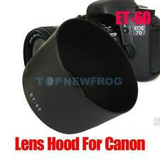 Black ET-60 ET60 Lens Len Hood For Camera Canon EOS 550D 60D 600D 1100D 75-