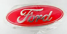 AS NEW 147mm X 57mm RED FORD BADGE - GS82