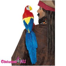Shoulder Pirate 50cm Parrot Lifelike with Holder Fancy Dress Costume Accessories