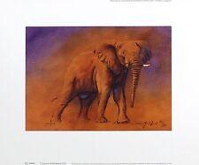 """JUSTIN TEW """"Victoria"""" Elefante Africa firmato LIM ED! dimensioni: 29cm x 36cm NUOVO RARO"""