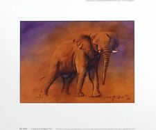 "Justin tew ""victoria"" elephant afrique signé lim ed! taille: 29cm x 36cm neuf rare"