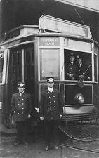 Boston MA Trolley Prepayment Car to Grove Hall RPPC Postcard