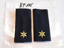 sd412a Polizei Schulterstücke blau 1 Stern golden 1 Paar