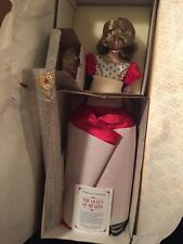 """Franklin Mint Heirloom The Queen of Hearts Doll porcelain 20"""" NRFB New!"""