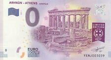 A 2017-1  BILLET 0 EURO SOUVENIR - YE NG - GRECE ATHENS ACROPOLIS PARTHENON